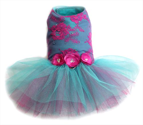 Meridian Dazzle Lace Ballerina Dress