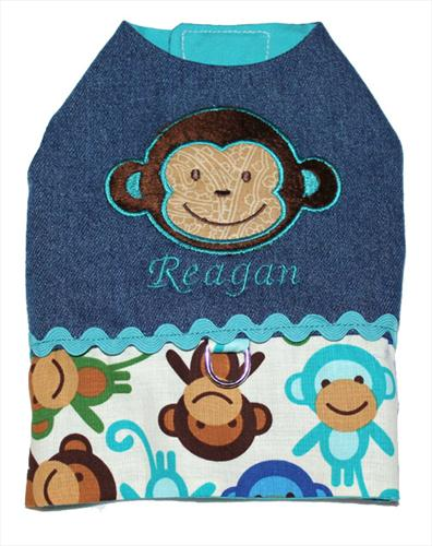 Personlized Denim Monkey Vest