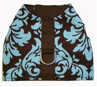 Aqua & Chocolate Damask Vest