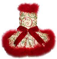 Christmas Swirl Marabou Dress