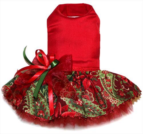 Silk Poinsettia Christmas Dress
