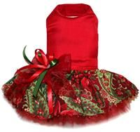 Silk Poinsettia Christmas Dress