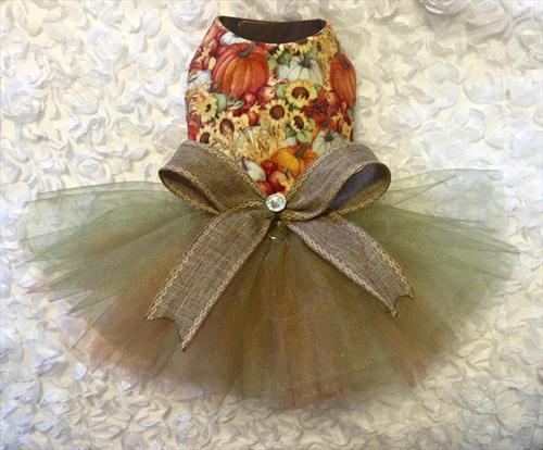 Pumpkin and Sunflower Tutu