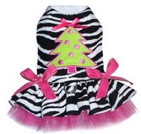 Sassy Zebra Christmas Tree Ruffled Harness