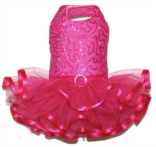 Hot Pink Sparkle Gala Dress