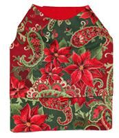 Christmas Poinsettia Vest - Long Style