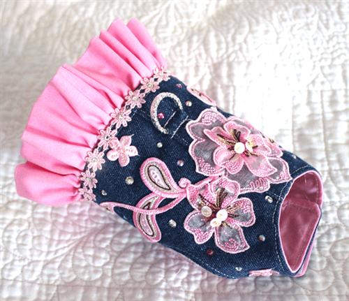 Denim Dazzle Swarvoski Harness - Pink