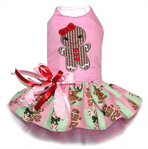Pink Gingerbread Applique Dress