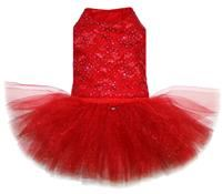 Sparkle Lace Ballerina Dress in Rouge