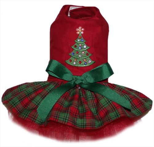 Rhinestone Christmas Tree Dress