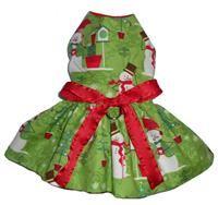 Green Snowman Dress